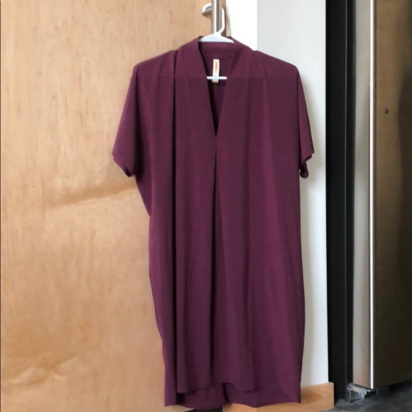 Lucy Dresses & Skirts - Lucy: plum colored cocoon style athleisure dress
